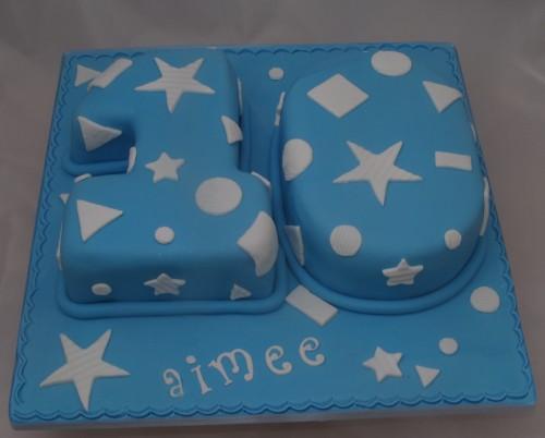Blue Number10 Cake 500x402